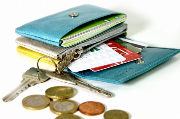 小さい青い財布