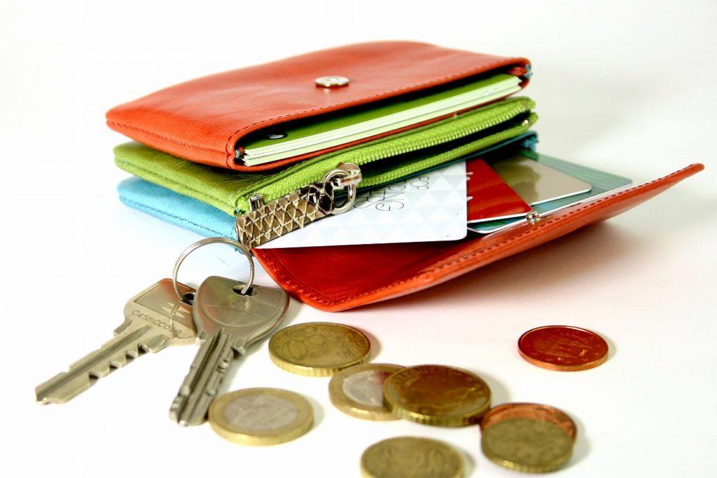 赤い小さい財布 ミニ財布