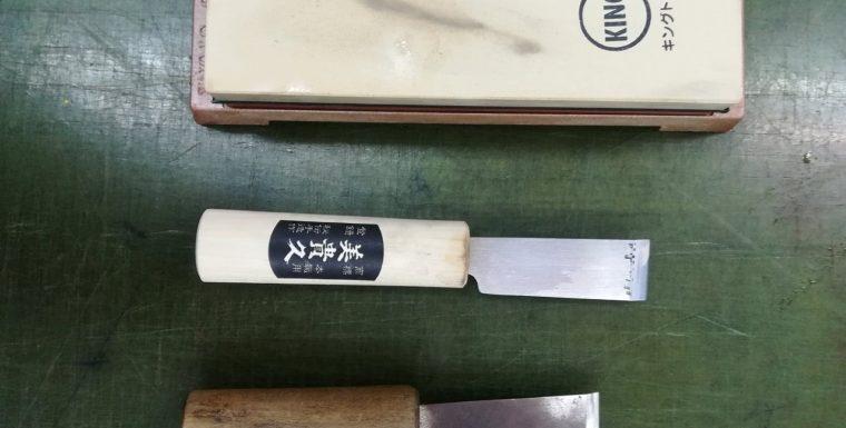 2回目 エトネ・レザースクール  革切り包丁  étonné leather school