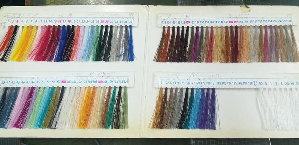 ビニモの糸サンプル帳
