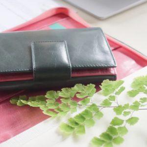 二つ折り財布 スペイン製 イタリアンレザー使用の手作り財布